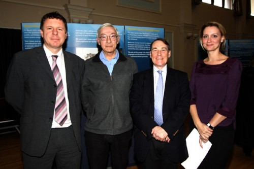 Pictured, from the left, are Lawrence Stringer, transport and development control manager at East Sussex County Council; Cllr John Carvey, Uckfield Mayor; Cllr Roy Galley, planning and development portfolio holder, Wealden Council; and Elaine Martin, principal development control engineer, East Sussex County Council.