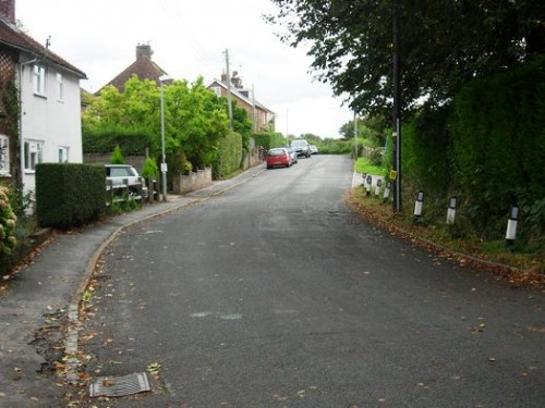 New Road, Ridgewood, would be the development boundary under the latest planning proposals for Uckfield
