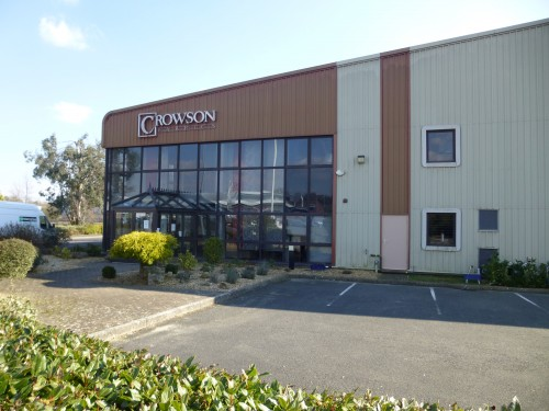 Crowson House on the Bellbrook Business Park, now empty as Crowson Fabrics prepares to close on April 17.