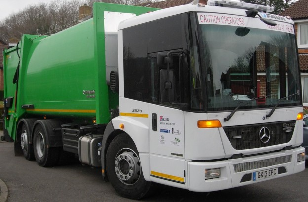 One of the new lorries collecting waste in Uckfield.
