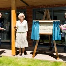 The Duchess of Cornwall, centre, officially opens Grace Kimmins House at Chailey Heritage.