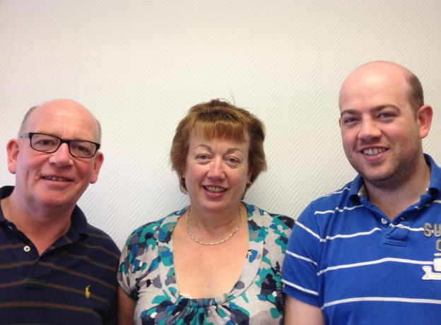 John, Liz and Simon Lewis who run Lewis Business Media, a growing company in Uckfield.