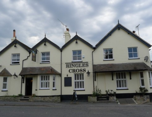 The Ringles Cross pub in Uckfield has been re-painted and the food comes highly recommended by the Uckfield News Fabulous Food writer Beverley Butler.