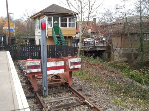 The end of the line at Uckfield Railway Station