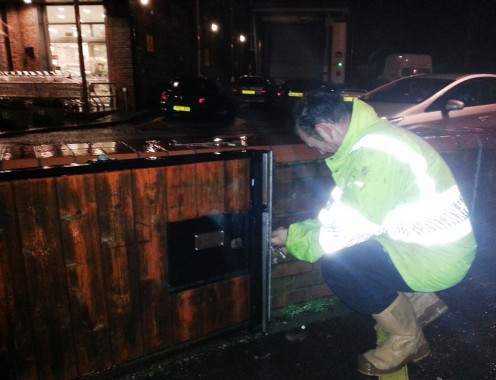 Flood gate unlocked ready for closure in Uckfield