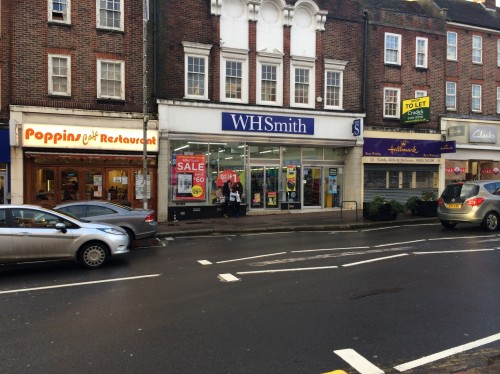WHSmith in Uckfield High Street, new home of the town's Post Office.