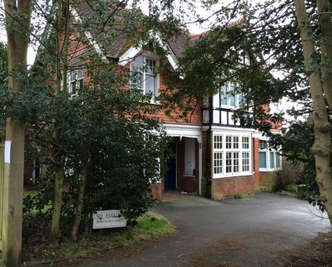 The old Meads doctors' surgery in Grange Road, Uckfield, which is set to be demolished.