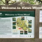 The Views Wood information board.
