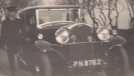 George Cosstick and one of Mr. Burton Rowe's Cars. Date Unknown web 2