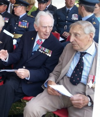 Legendary flyers, Captain Eric Winkle Brown (left) and Air Marshal Freddie Sowrey