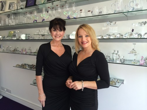 India Buchan and Heather Stevens in the new Elysium engraving shop.
