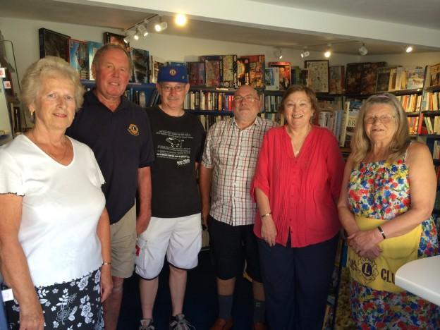 Uckfield Lions bookshop volunteers