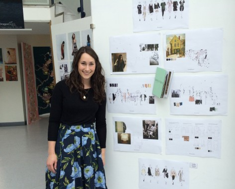 Verity Harris, 24, a former student at UCTC, now a designer at Marks & Spencer, contributed to the art exhibition.