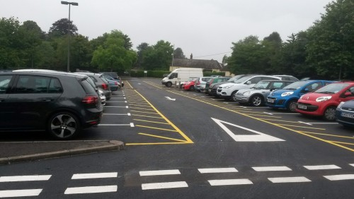 The re-marked Luxford Field car park, Uckfield