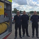 Uckfield firefighters from Red Watch who showed children around their fire engine are, from the left, Jason Pook, David Ash, and Richard Funnell.