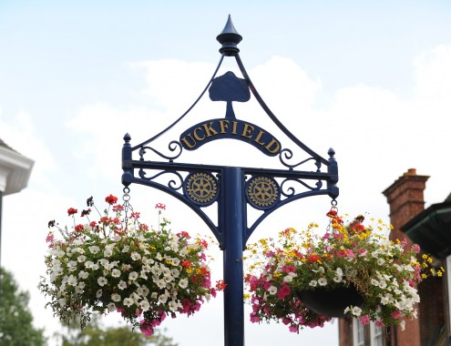 uckfield sign flowers 2