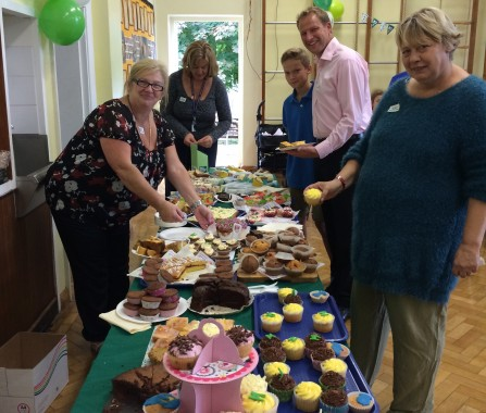 Cakes galore at Bonners Macmillan event.
