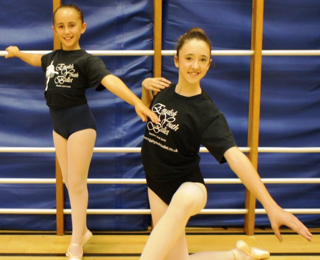 English Youth Ballet dancers from Uckfield, Amelia and Alexandra