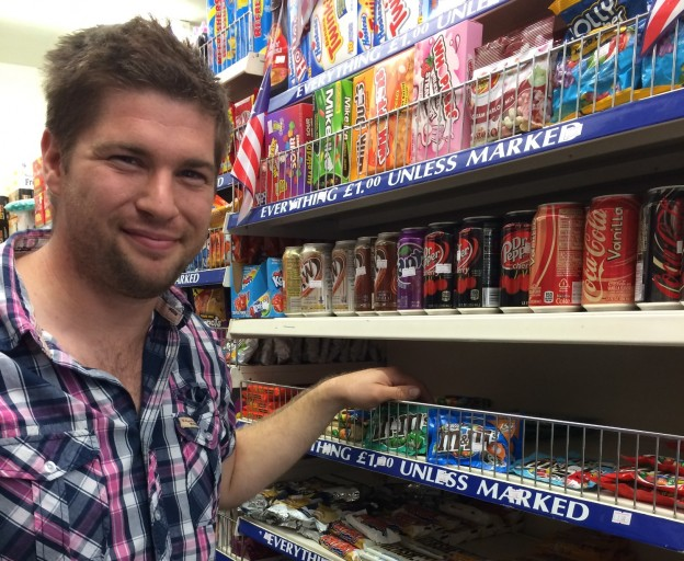 James Anderson is now stocking American food at his Uckfield High Street shop All Sorts.
