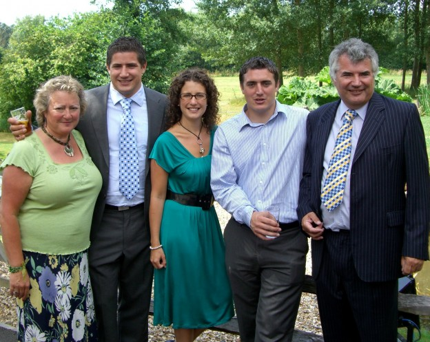 The Ridley family who are taking over the Highlands Inn, Uckfield. They are from the left, Val, Matt, Caroline, Nick and Ian.