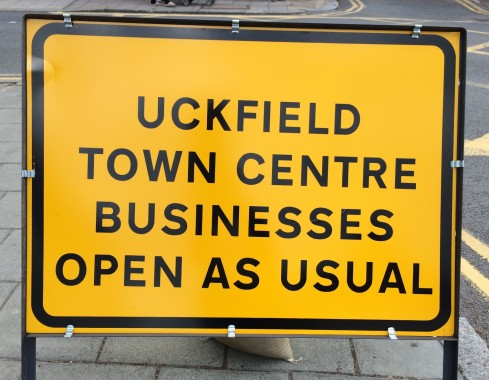 roadworks open for business
