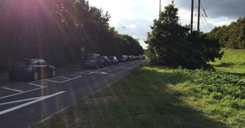 roadworks traffic backing up