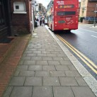 Looking down the High Street from outside Luna. The paving slabs aren't too bad here.