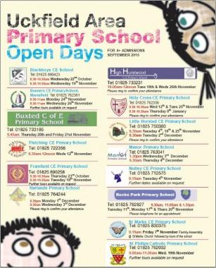 school open days 2015 poster