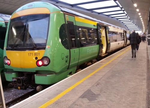 Uckfield train at London Bridge