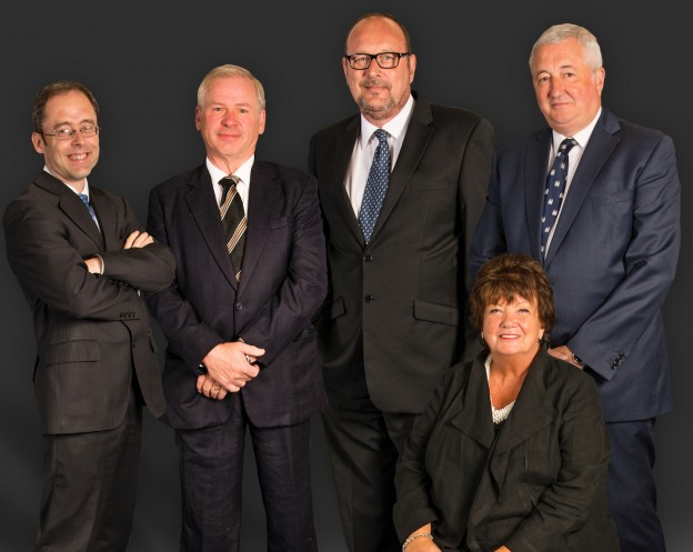 Trifast Board, including Malcolm Diamond MBE standing third from left