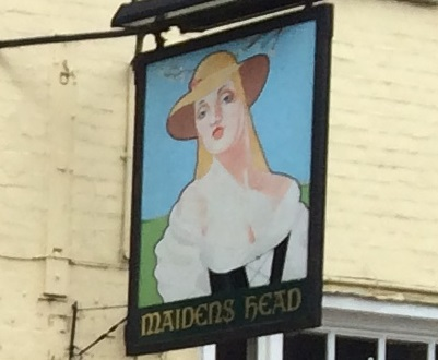 the sign which once hung outside the Maidens Head before it became the Smokehouse