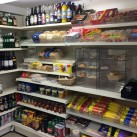 Bread, cakes, biscuits and drinks on the new shelves at Ridgewood Post Office.