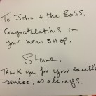 Congratulations from a happy customer.