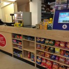 The new purpose built counter for the Post Office and store at Ridgewood.t