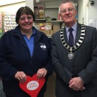 Sue Gothard is pictured inside the refurbished Ridgewood Post Office with Uckfield Mayor Cllr Ian Smith.