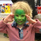 Face-painting was one of the fun activities at the Dawson Hart Easter egg hunt.
