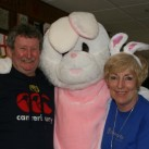 The Easter bunny makes friends at the Dawson Hart Easter egg hunt.