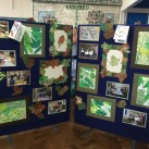 Leaves are the inspiration for these artworks which include picture frames.