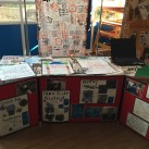 One of the displays at the exhibition at Manor Primary School.