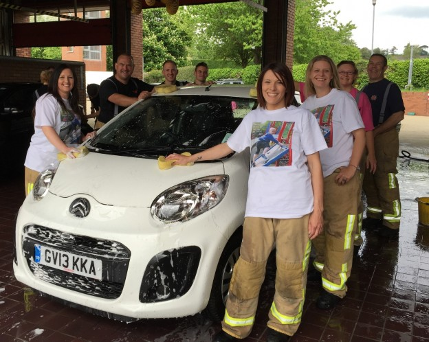 The family and friends of eight-year-old Harry Hadley-Binder join Uckfield firefighters in raising funds to make Harry's dream come true.