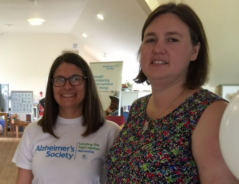 Sarah Burchett and Margaret Dode-Angel ready for a dementia support day at the Victoria Pavilion, Uckfield, home of Sussex Support Service.