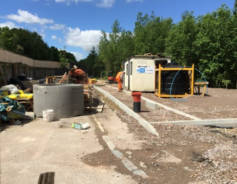 Construction of a commuter car park at Uckfield where once the railway ran to Lewes. Pictured in 2015.