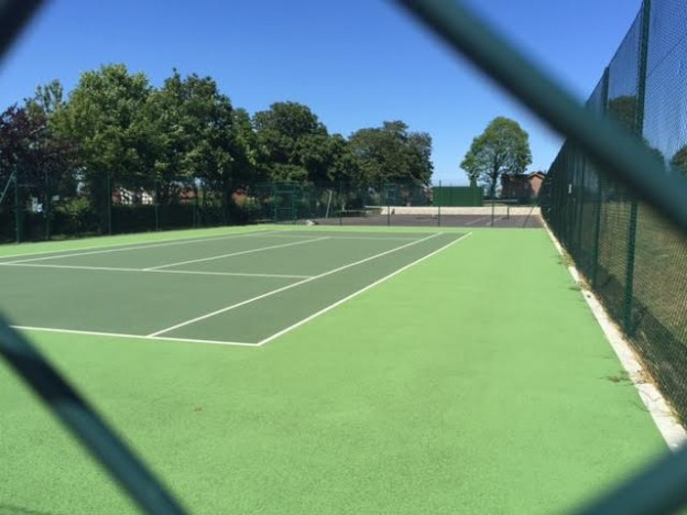 painted-tennis-court