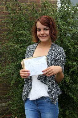 Charlotte Heath with a collection of As and A*s off to do medicinal science at uni