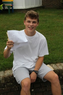 Chester Broad with A, A* A and going to study management at university