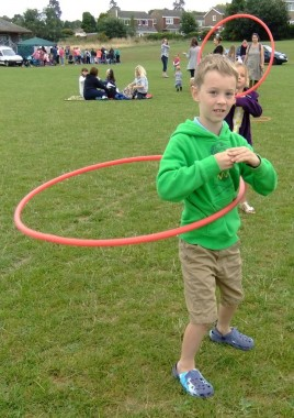 West Park fun with the hoop during the activity day