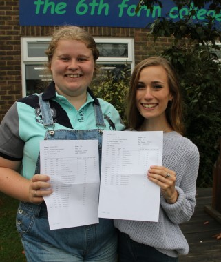 Heather Mansfield and Jennifer Fletcher, both with A* A A grades and off to Exeter University to do physics