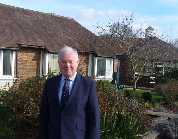 Charles Hendry, new patron of St Peter and St James Hospice.