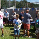 People enjoyed socialising at the fund-raising football match.