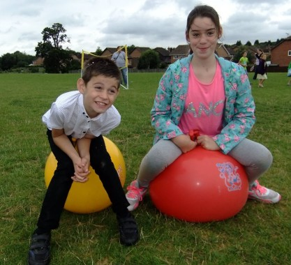 Space Hopper fun at the activity day